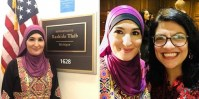 Linda Sarsour attends swearing-in ceremony in support of Rashida Tlaib