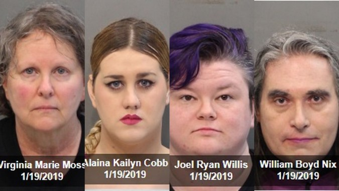 women's march protesters arrested