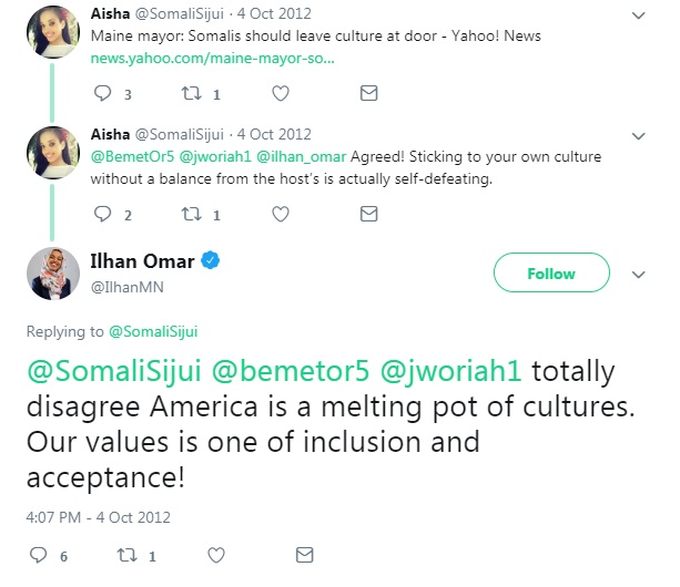 Ilhan Omar admits she will not assimilate