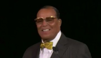 """Louis Farrakhan Tells """"Sweetheart"""" Rep. Omar Not To Apologize For Anti-Semitic Comments"""