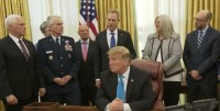 President Trump Participates in a Signing Ceremony for Space Policy Directive 4