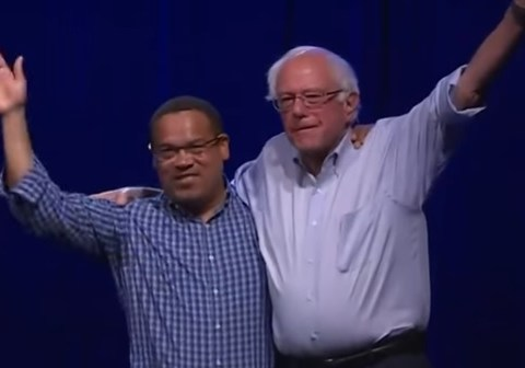 Keith Ellison Endorses Bernie Sanders for President