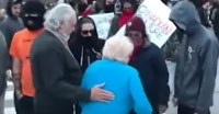 Antifa harass elderly couple
