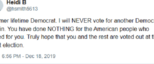 never vote democrat again