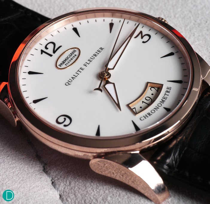 Housed in a case measuring 39mm diameter and a thickness of 8.5mm, the watch exudes a quiet elegance, not unusual of Parmigiani creations.