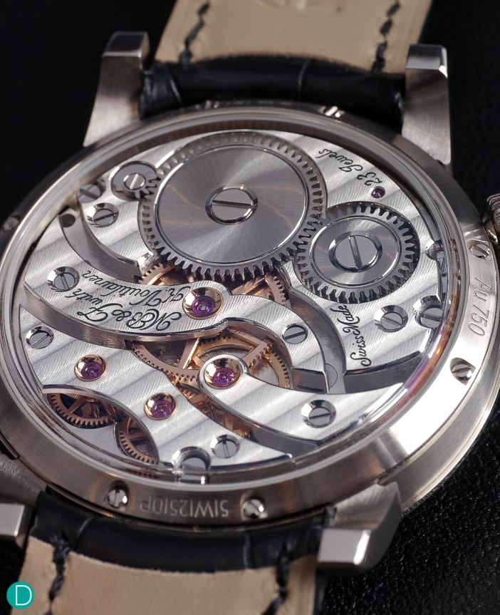 The movement is quite classical in design. With a typical Lepine style layout common in the turn of the last century.  This classical looking movement is quite beautifully finished.