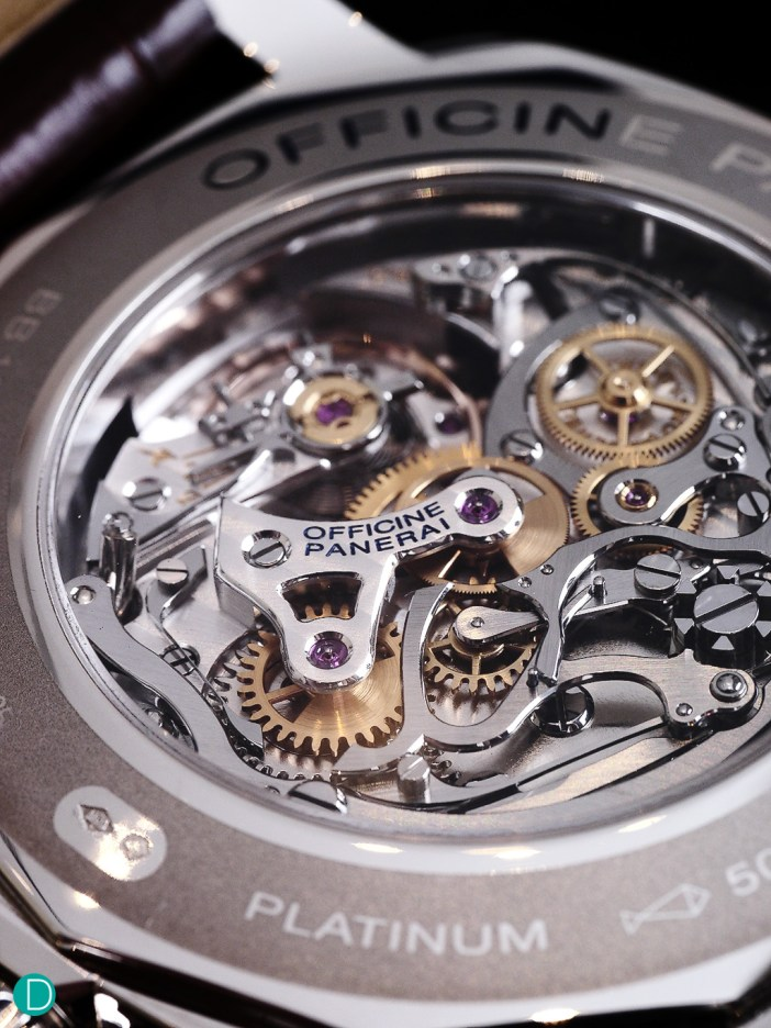 The heart of the 1940 Chronographs- the Calibre OP XXV (based on the Minerva Calibre 13-22).