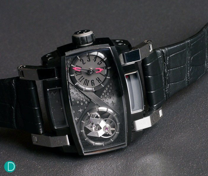 The Romain Jerome Moon Orbiter. This is another uber-cool watch, which fuses both art (in terms of design) and technology (in terms of complications, such as the flying tourbillon) together.