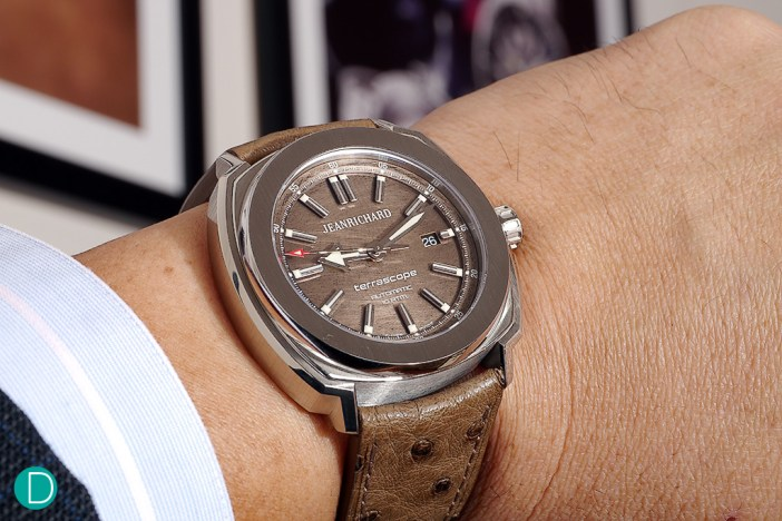 The Jeanrichard Terrascope with a bronze dial. One of the novelties from Jeanrichard this Baselworld2014.