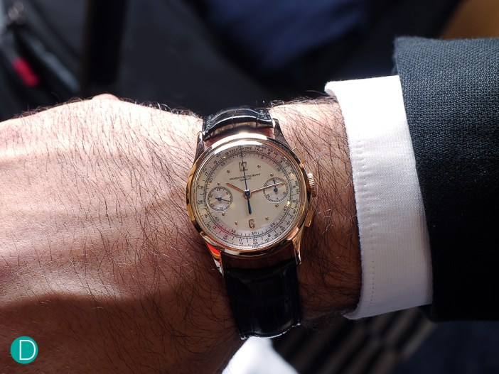 The 34mm size looks perfect on the wrist. Reminiscent of a classic gentleman's watch.