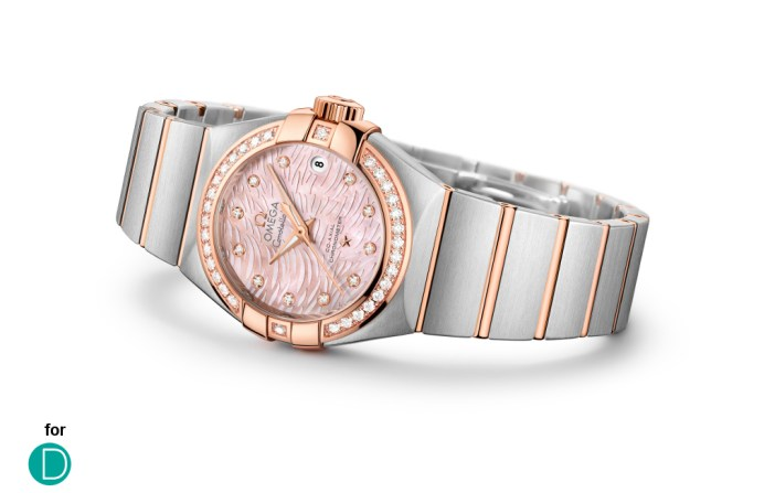 """The updated version of the Omega Constellation """"Pluma""""."""