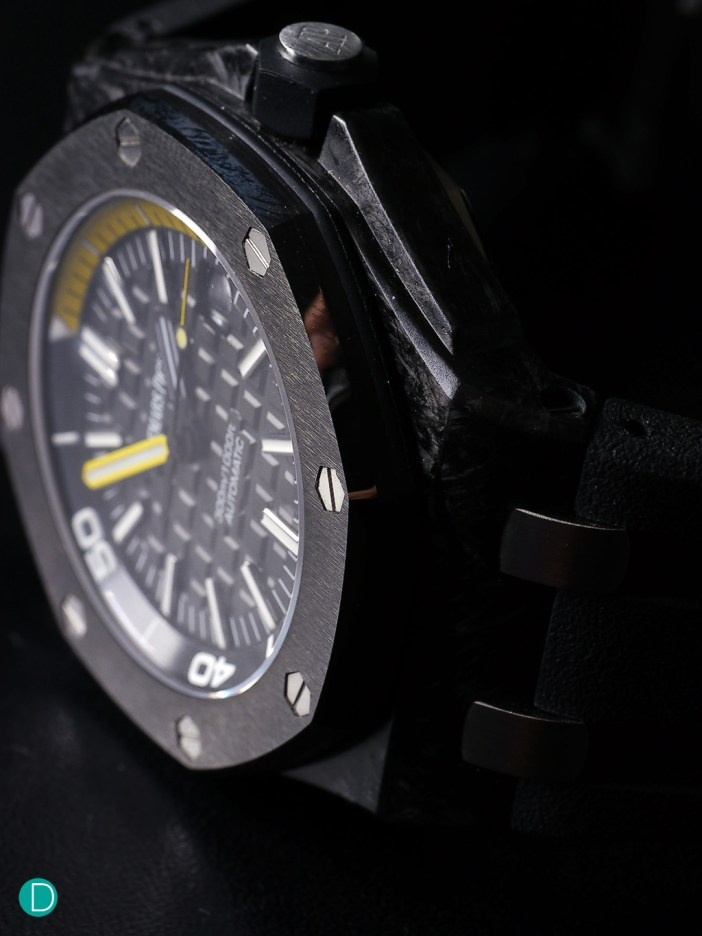 The Audemars Piguet Offshore Diver, in forged carbon.