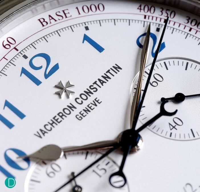 The Vacheron Constantin Ultra Thin Grand Complication Chronograph dial.