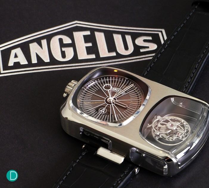 The Angelus U10 Tourbillon Lumière. A modernist avant garde approach to the age old complication of a tourbillon.