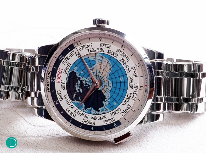 The Montblanc Heritage Spirit Orbis Terrarum. An interesting and functional timepiece for a frequent traveler.