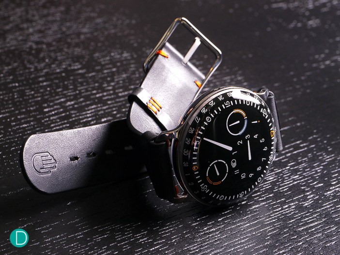 The Ressence Type 3. This is a newer version, which features an oil temperature indicator.