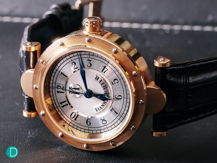 Vianney Halter Classic. A true classical case which looks modern but at the same time like it just came out of a Jules Verne movie set.
