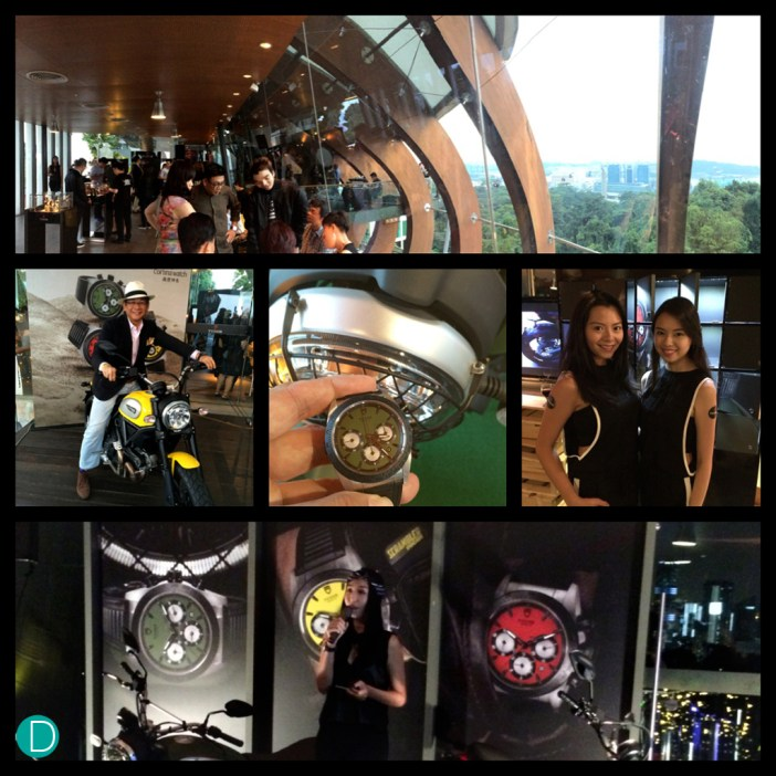 Launch of the Tudor Ducati Fastrider. At the peak of Mount Faber, Singapore.