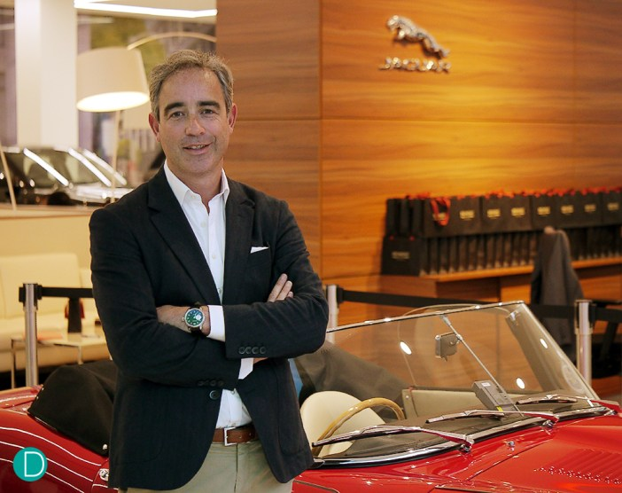 Giles English, co-founder of Bremont, with a vintage Jaguar. They are a quintessentially English brand (yes even their real surname is English) and have plans to progressively bring watchmaking home to England on an industrial scale.