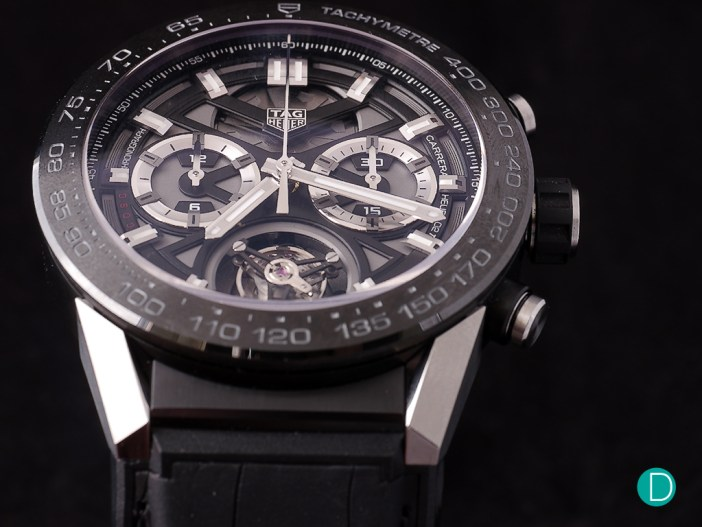 The TAG Heuer Carrera Heuer-02T. One of the more modestly priced Swiss-made tourbillon watches around.