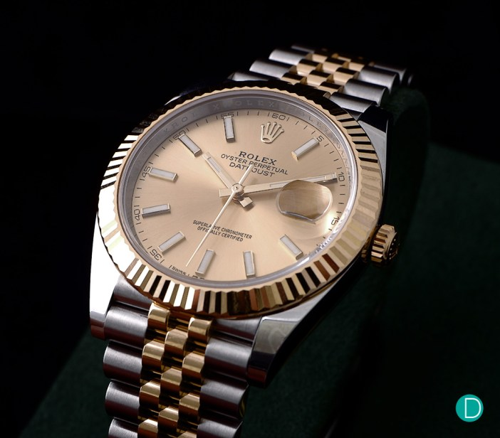 The newly released Rolex Datejust in two tone gold and steel.