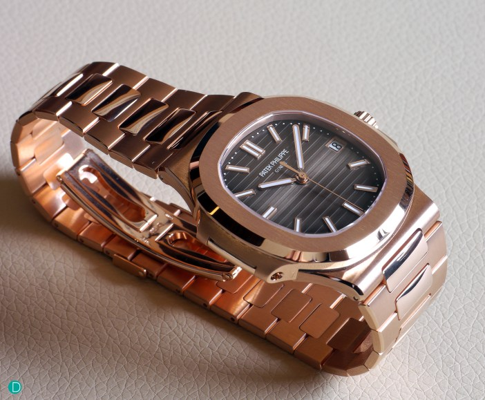The Nautilus 5711 in rose gold