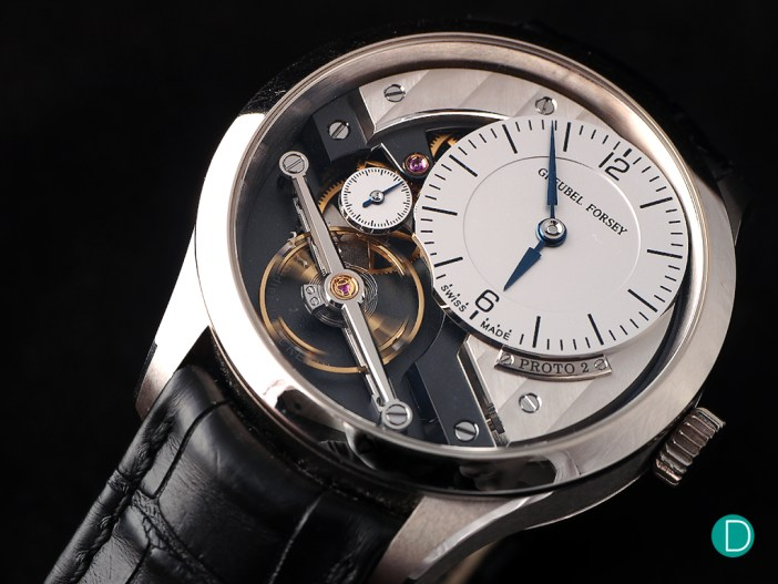 The Greubel Forsey Signature 1 used in the discussion to illustrate the finer points of finishing.