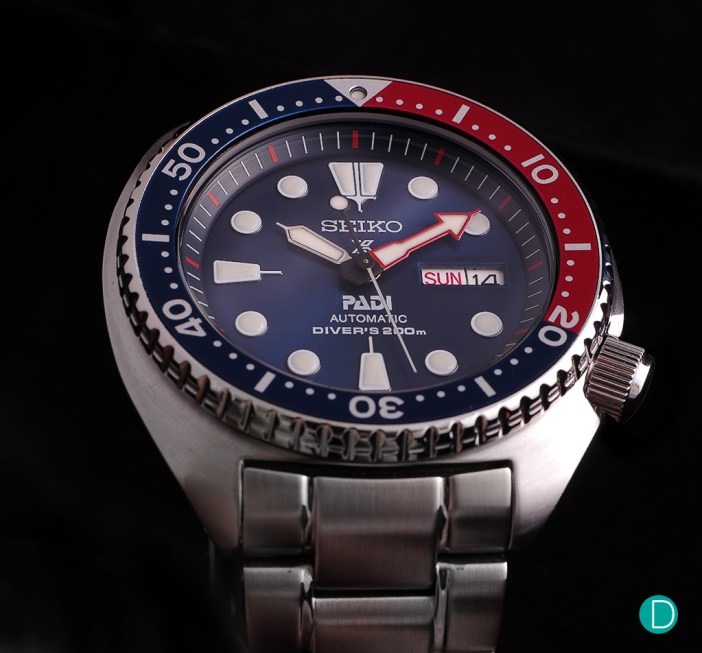 The Seiko PADI Automatic Diver SRPA21 looks robust and purposeful.
