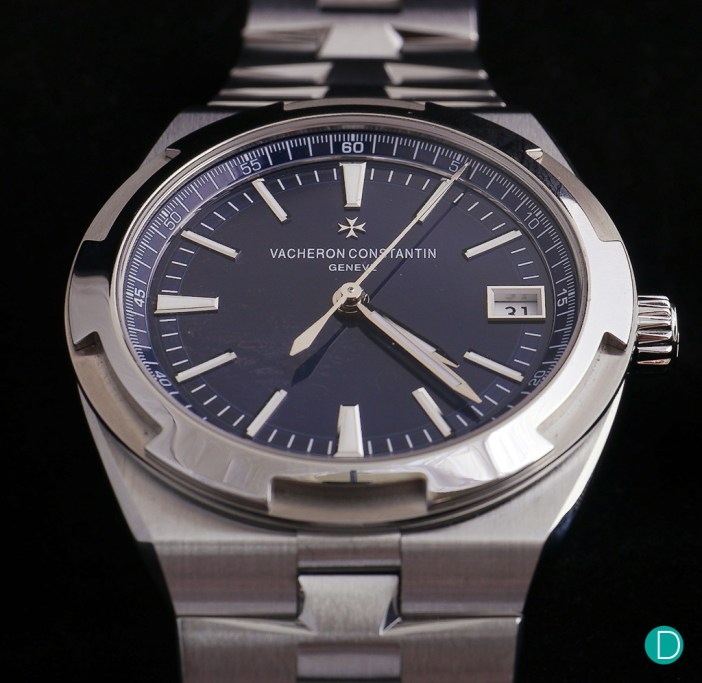VC Overseas in the lacquered blue dial.