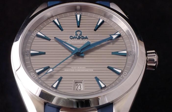Omega Aqua Terra front view