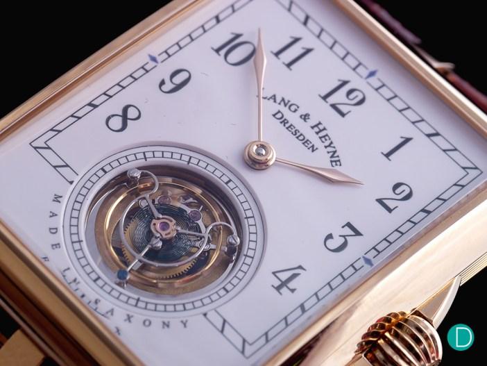 Lang & Heyne Anton Flying Tourbillon dial detail