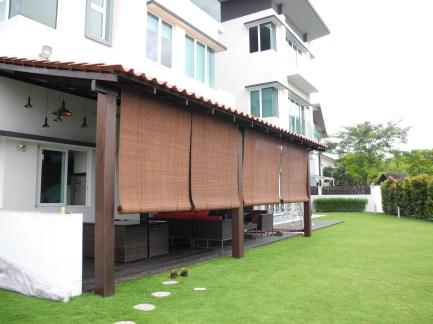 Tirai Kayu dan Tirai Bambuu