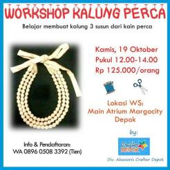 5th Margo City Arts and Crafts Workshop Kalung Perca