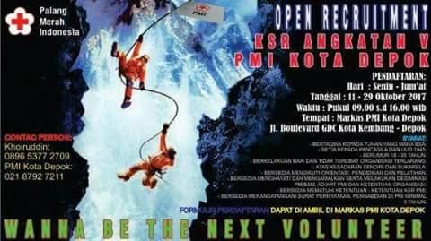 Open Recruitment KSR PMI Kota Depok Angakatan V