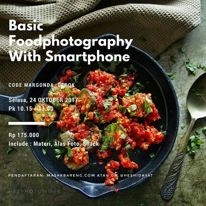 Workshop Basic Foodphotography with Smartphone