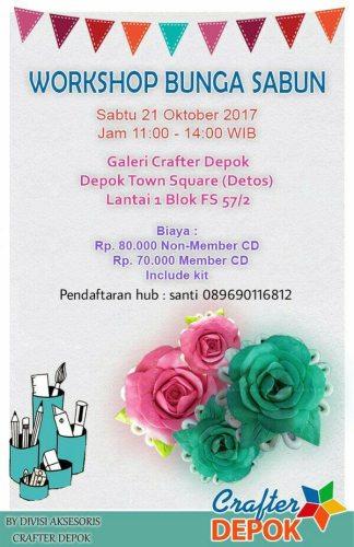 Workshop Bunga Sabun Crafter Depok 21 Okt 2017