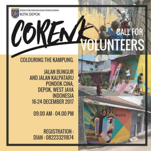 Call for Volunteer Colouring The Kampung Depok