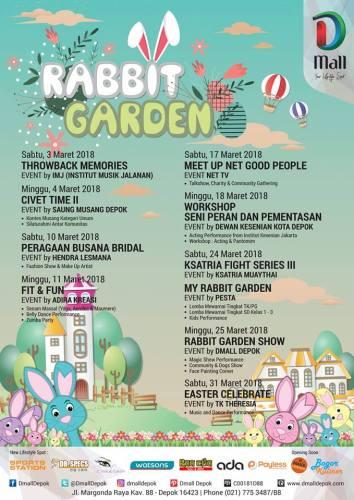 Rabbit Garden - Agenda Kegiatan Event Dmall Depok Maret 2018