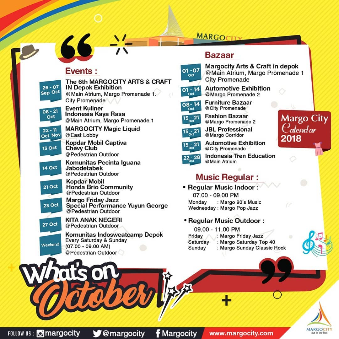 What's on October @ Margo City