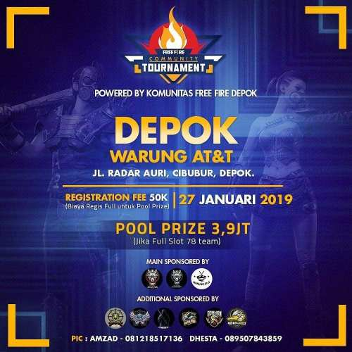 Free Fire Community Tournament Depok 27 Jan 2019