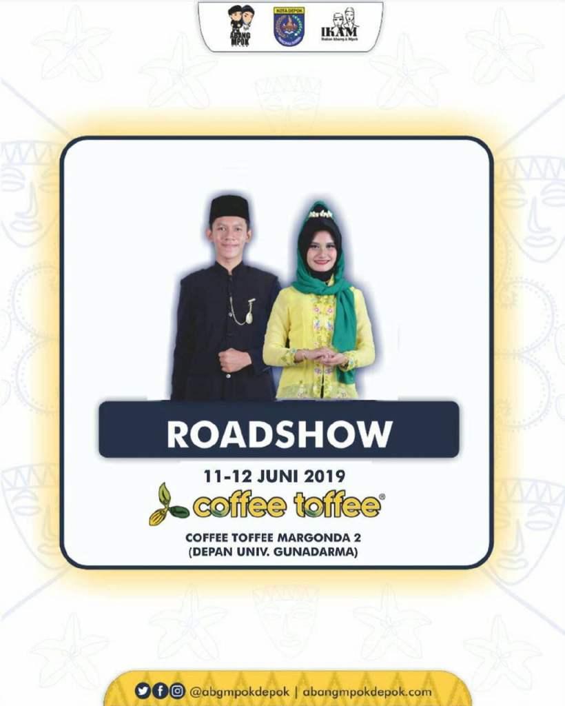 Roadshow Pemilihan Abang Mpok Depok 2019 Coffee Toffee Margonda 11-12 Juni 2019