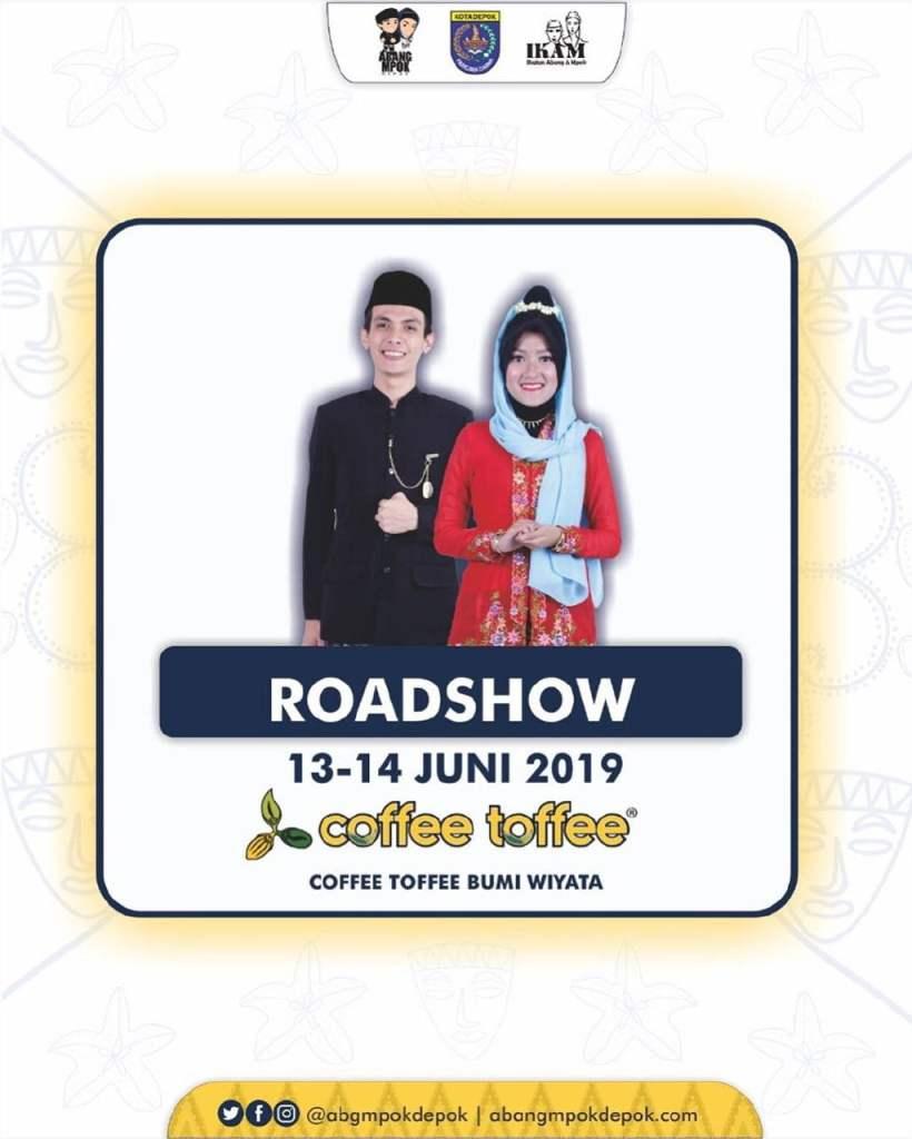 Roadshow Pemilihan Abang Mpok Depok 2019 Coffee Toffee Margonda 13-14 Juni 2019