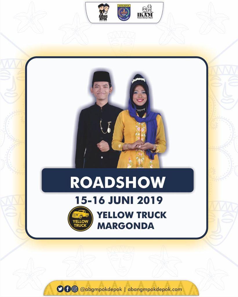 Roadshow Pemilihan Duta Pariwisata Abang Mpok Depok 2019 15-16 Juni 2019 Yellow Truck Margonda