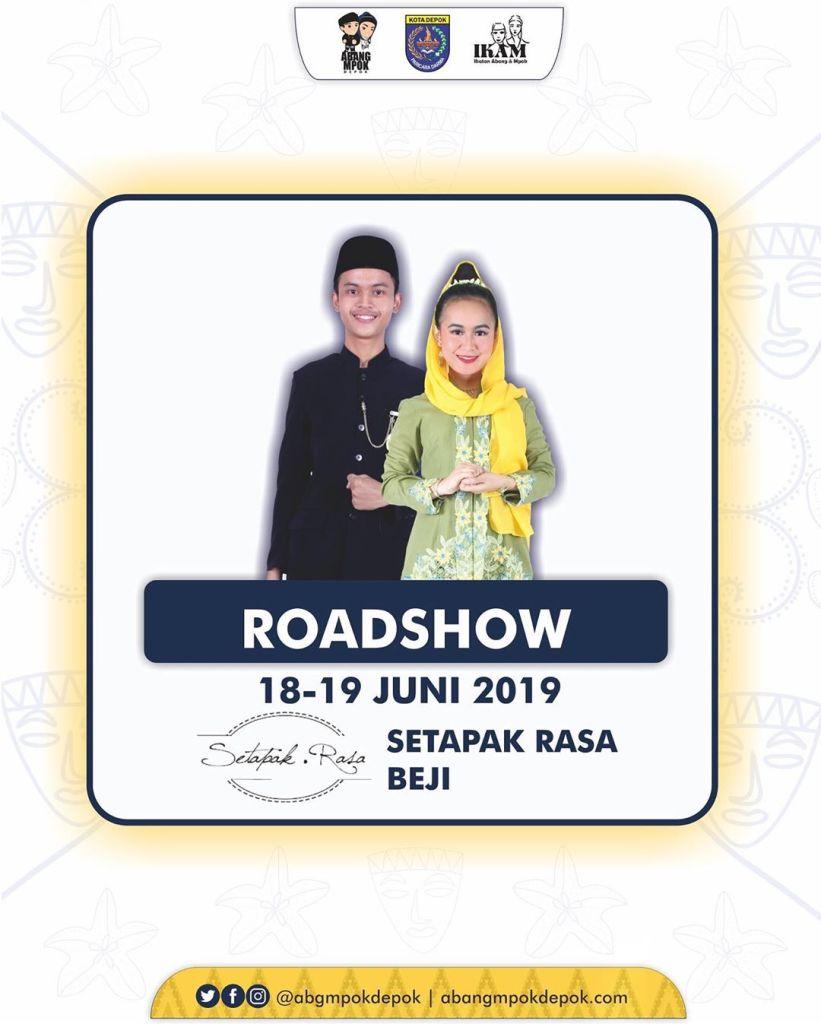 Roadshow Pemilihan Duta Pariwisata Abang Mpok Depok 2019 18-19 Juni 2019 Setapak Rasa Beji