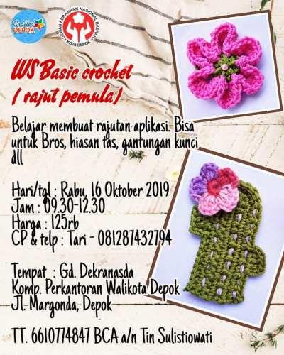 Workshop Dekranasda Depok Basic Crochet 16 Okt 2019