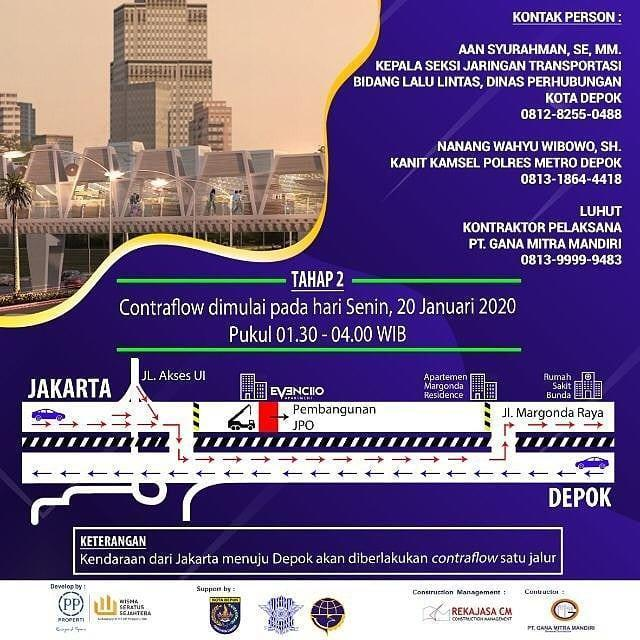 Info Depok Jembatan Penyeberangan Orang JPO Margonda Kober UI Evencio