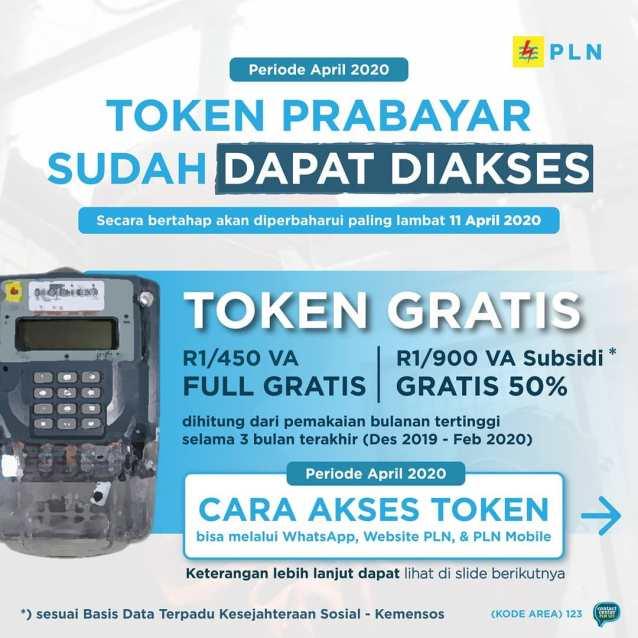 Token Gratis dari PLN untuk Pelanggan Rumah Tangga Prabayar 450 VA dan 900 VA Subsidi