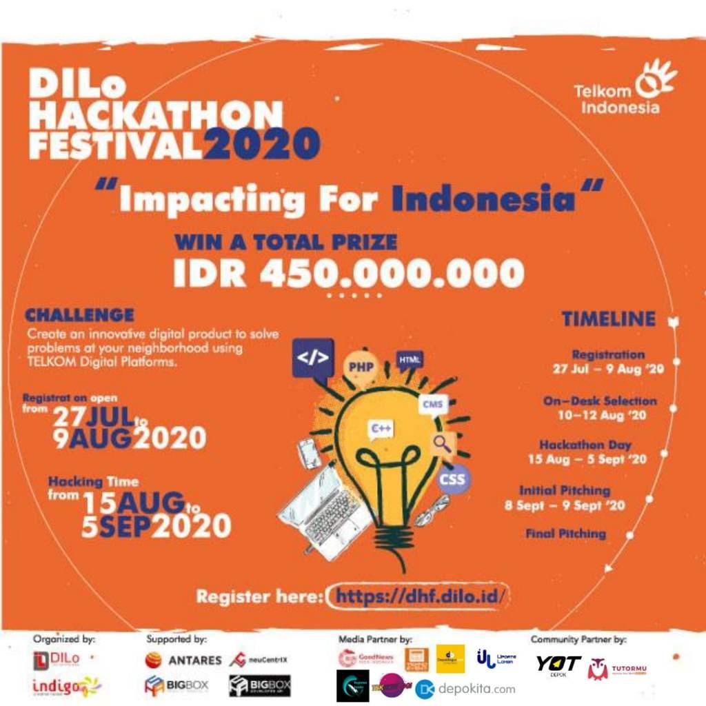 Poster DILo Hackhaton Festival 2020