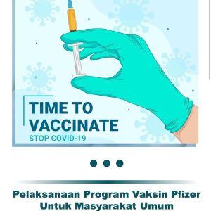 Vaksinasi di RSUD Kota Depok 20-24 September 2021