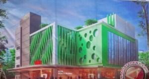 Inilah tampilan depan RSIA Bunda Aliyah yang sedang dibangun di pertigaan Stasiun Depok Lama.